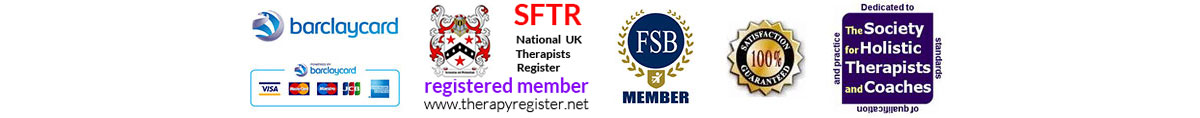 Accreditation logos for Therapy Register